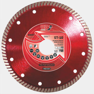 DART Red Ten ST-10 Super Thin Diamond Tile Blade - Various Sizes Available