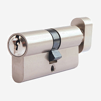 Dale Euro Cylinder And Turn Lock 30/10/30mm - Nickel Plated