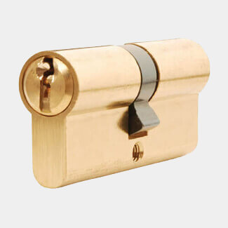 Dale Euro Cylinder And Turn Lock 30/10/30mm - Polished Brass