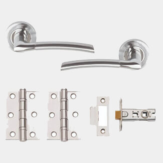 Dale Plus Privacy Door Handle Pack - Polished Chrome And Satin Chrome Plated