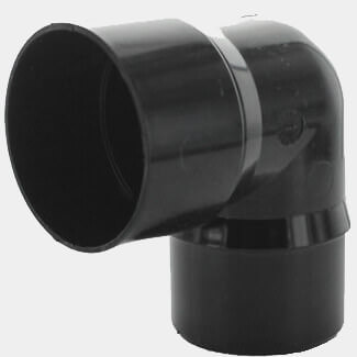 Hunter Rainwater 92.5 Degree Bend Round Black 68mm