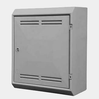 Tricel Gas Meter Box Surface Mounted White