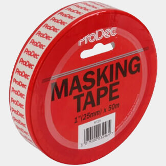 ProDec 50mtr Long Masking Tape - Widths Available