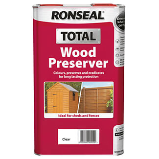 Ronseal Total Wood Preserver 5L - Finishes Available