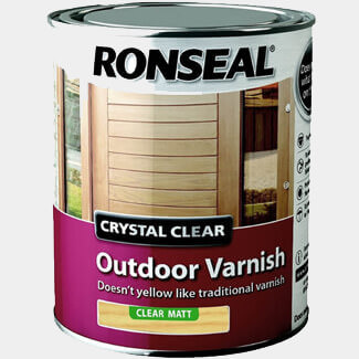 Ronseal Trade Crystal Outdoor Varnish Matt 750ML - Finishes Available
