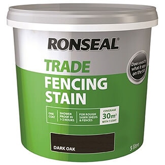 Ronseal Trade Fencing Stain 5L - Finishes Available