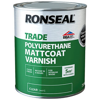 Ronseal Trade Polyurethane Mattcoat Varnish - Sizes And Finishes Available
