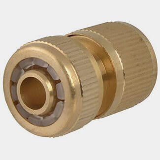 Faithfull Female Water Stop Hose Connector Brass 12.7mm