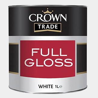 Crown Trade Full Gloss Paint 1L - Various Finishes Available