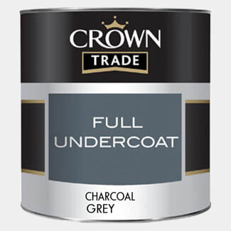Crown Trade Full Undercoat Paint Charcoal Grey 1Ltr