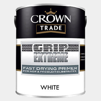 Crown Trade Grip Extreme Fast Drying Primer Paint White 1Ltr