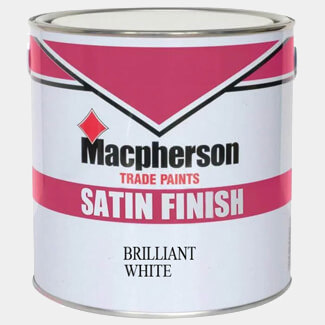 Macpherson Satin Finish Paint Brilliant White - Various Liters Available