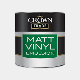 Crown Trade Matt Vinyl Emulsion Paint - Various Colours And Litres Available