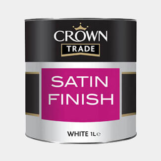Crown Trade Satin Finish Paint White 1L