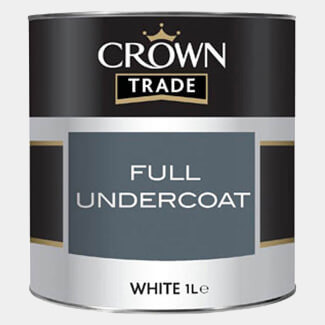 Crown Trade Full Undercoat Paint 1L - Various Colours Available