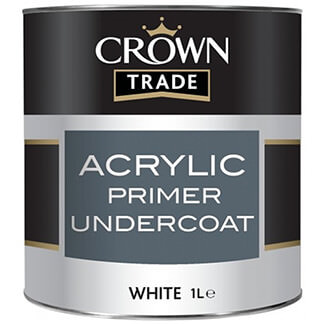 Crown Trade Wood Primer Paint White 1L