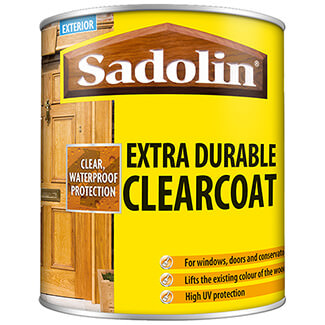 Sadolin Extra Durable Clearcoat Woodstain Clear Gloss 1Ltr