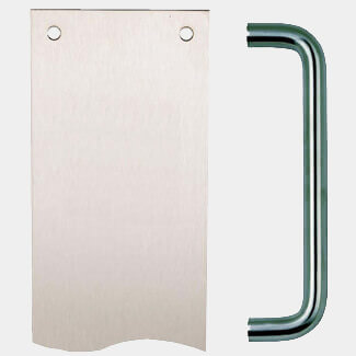 Dale Firebrand Pull Handle With Finger Plate - Finishes Available