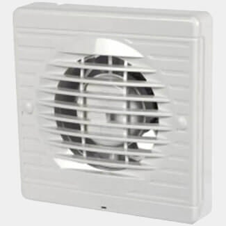 Manrose Pull Cord Extractor Fan White 100mm