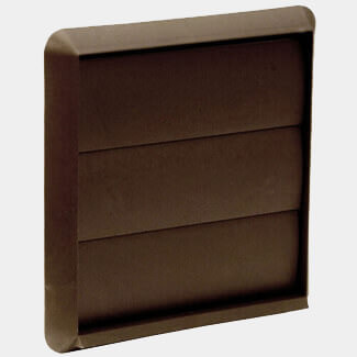 Manrose Wall Outlet with Gravity Flaps Dual Fitting 100mm - Various Colours Available