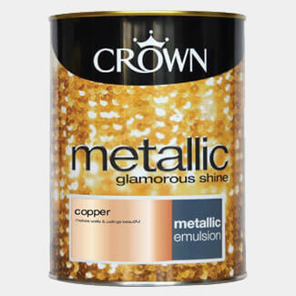 Crown Metallic Glamorous Shine Paint 1.25L - Various Colours Available