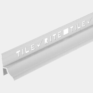 Tile Rite Heavy Duty Bath Trim White 1.8Mtr