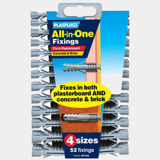 Tile Rite Plasplugs All In One Multi Purpose Fixing Clip Pack