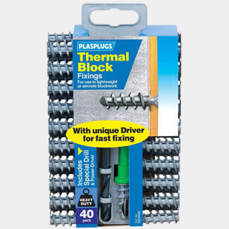 Tile Rite Plasplugs Thermal Block Fixings Clip Pack