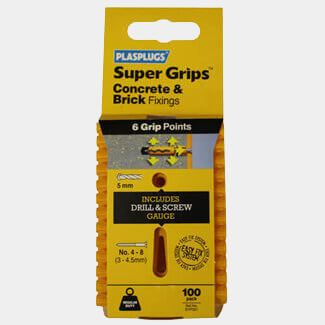 Tile Rite Plasplugs Regular Duty Supergrip Clip Pack Yellow