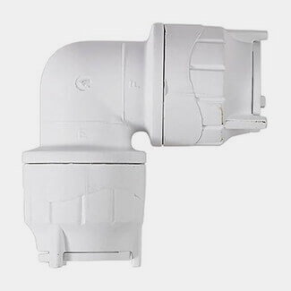 Polyfit Push-Fit Elbow White
