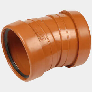 Buildworld 110mm - 4 Inch Underground Brown 15 Degree Bend - Available in Single Or Double Socket