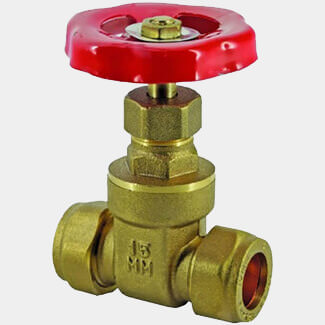 Masterflow Yellow Brass Gatevalve - Various Sizes Available