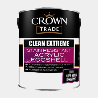 Crown Trade Paint Clean Extreme Durable Acrylic Eggshell 5L