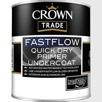 Crown Trade Fastflow Quick Dry Primer Undercoat - Various Colours And Litres Available