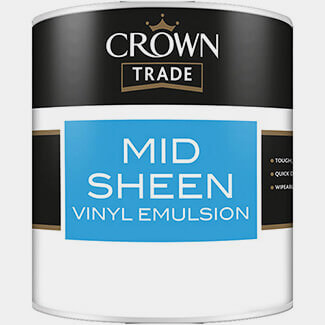 Crown Trade Mid Sheen Vinyl Emulsion Paint - Various Colours And Litres Available