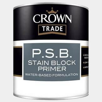 Crown Trade PSB Stain Block Primer White 1L