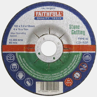 Faithfull Stone Cutting Disc Depressed Centre - Various Size Available