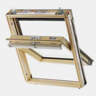 Keylite Pine Center Pivot Loft Window - Sizes Available
