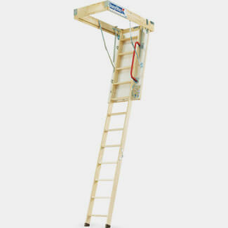 Keylite Pine Loft Ladder Height 1200mm - Available In Various Width