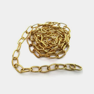 Chain Products Decorative Twist Chain Steel Brass Plated
