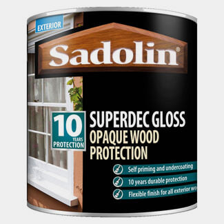 Sadolin Superdec Gloss Opaque Wood Protection Super White - Variants Available