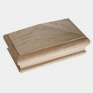 Cheshire Mouldings 125mm Length Pyramid Newel Cap Oak - Various Sizes Available