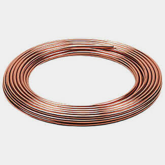 Lawton Tubes 10mtr Long Copper Coil Pipe - Diameter Available