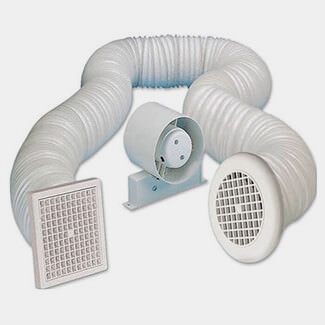 Manrose Standard In line Ducting Fan And Ceiling Kit 100mm