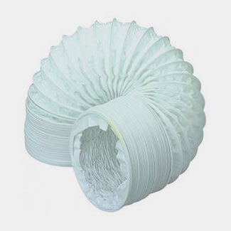 Manrose 1mtr Length Round PVC Ducting Hose White - Diameters Available