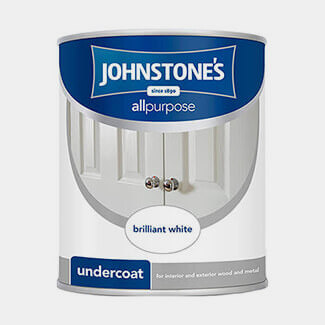 Johnstones All Purpose 1.25L Brilliant White Undercoat Paint