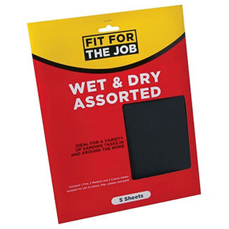 Rodo Fit For Job 230mm x 280mm Wet And Dry Paper Sheet Pack of 5 - Assorted