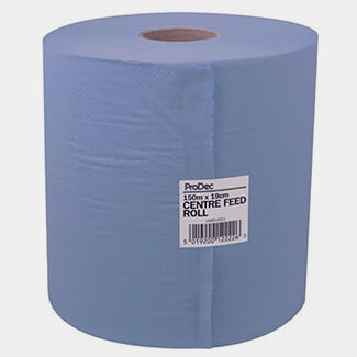 Rodo 190mm Wide x 150mtr Long Blue Centre Feed Towel
