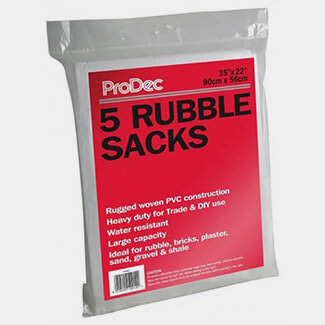 Prodec Pack Of 5 Woven Rubble Sacks