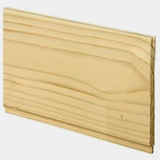 Pine 8mm Thick x 100mm Wide Tongue And Grooved Traditional Cladding Panel - Various Length Available